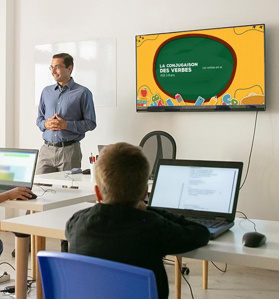 Solutions d'affichage pour enseignement